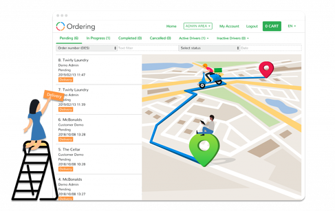 Delivery Dashboard | Ordering | Live Tracking