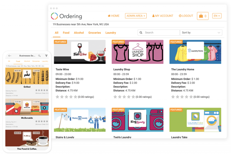 Create your own app | Ordering online system