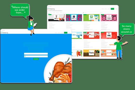 Multi Store Ordering Website | E-commerce platform | Ordering