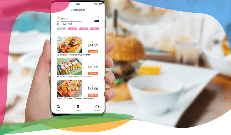 Restaurant online ordering system with mobile apps